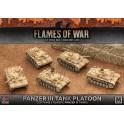 Afrika Korps Panzer III Tank Platoon (Plastic)