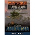 D-Day American Unit Cards (x42 cards)