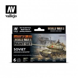 Vallejo WWII Soviet Armour and Infantry Paint Set