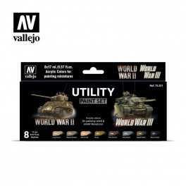 Vallejo Utility Paint Set WWII and WWIII