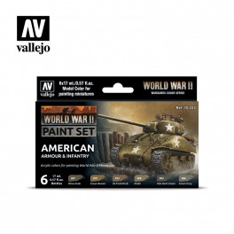 Vallejo WWII American Armour and Infantry Paint Set