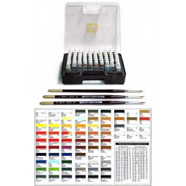 Game Color 72 cores basicas Estojo de Plastico